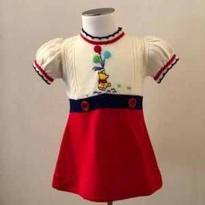 Vintage 70's Girls/Baby Winnie the Pooh dress